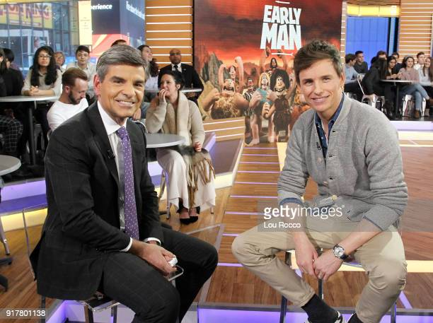 AMERICA Eddie Redmayne is a guest on 'Good Morning America' Tuesday February 13 airing on the ABC Television Network GEORGE