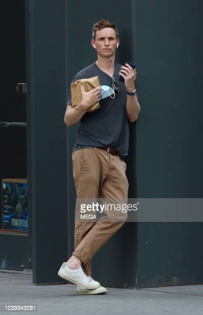 Eddie Redmayne is seen out shopping on June 8, 2021 in New York City, New York.