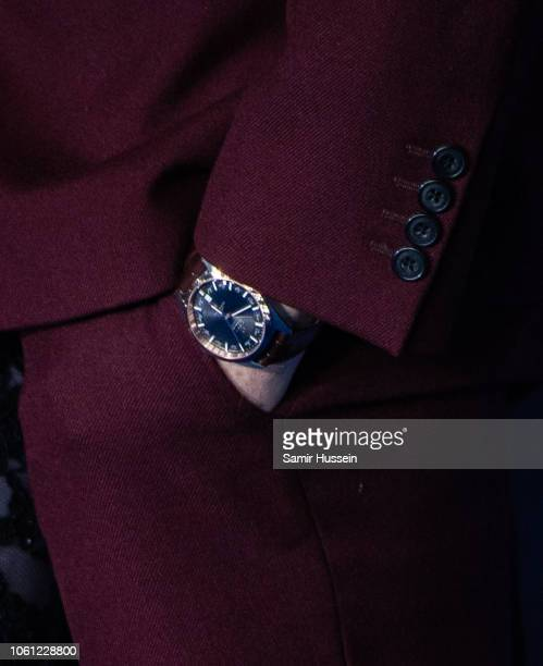 Eddie Redmayne watch detail attends the UK Premiere of 'Fantastic Beasts The Crimes Of Grindelwald' at Cineworld Leicester Square on November 13 2018...