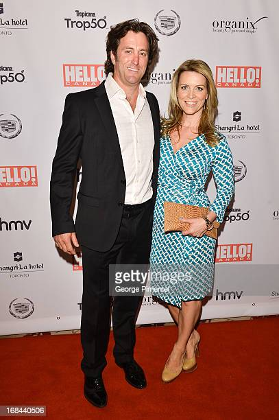 Eddie Richardson and Martine Gaillard arrive at the Hello Canada gala celebrating Canada's 50 most beautiful at ShangriLa Hotel on May 9 2013 in...