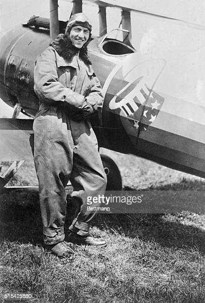 Eddie Rickenbacker former auto racer and now an Ace with Pershing fliers had just brought down his eight plane This is the latest photo of the now...
