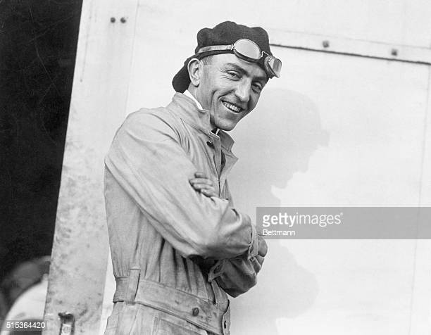 1916 Eddie Rickenbacker World War I flying Ace and receiver of the Congressional Medal of Honr is shown wearing flying garb and goggles