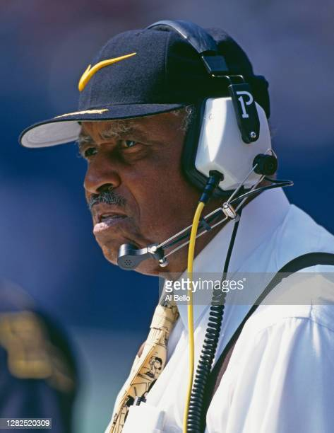 Eddie Robinson, Head Coach of the Grambling State Tigers watches his players during the NCAA Big South Conference college football game 27th...