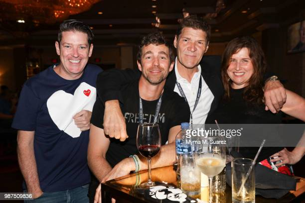 Eddie Roche James Marshall Greg Calejo and Annette Suarez attend the opening of the Hard Rock Hotel Casino Atlantic City on June 28 2018 in Atlantic...
