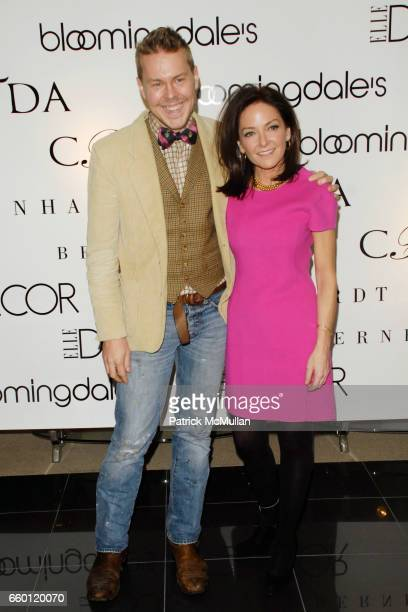 Eddie Ross and Margaret Russell attend ELLE DECOR and BLOOMINGDALE'S Celebrate Reopening of Furniture Department With Auction Benefitting CFDA at...