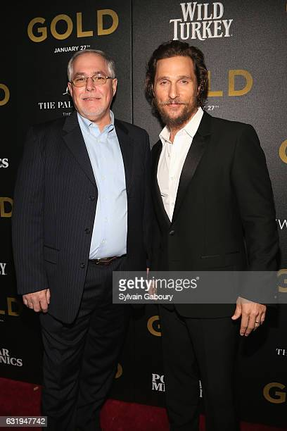 Eddie Russell and Matthew McConaughey attend TWCDimension with Popular Mechanics The Palm Court Wild Turkey Bourbon Host the Premiere of Gold at AMC...