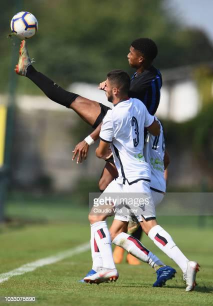 Eddie Salcedo of FC Internazionale in action during Fc internazionale U19 V Cagliari U19 match at Stadio Breda on September 14 2018 in Sesto San...