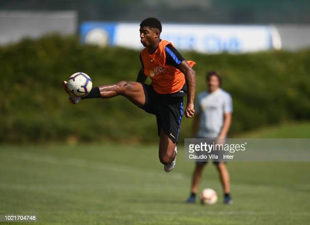 Eddie Salcedo of FC Internazionale in action during the FC Internazionale training session at the club's training ground Suning Training Center in...