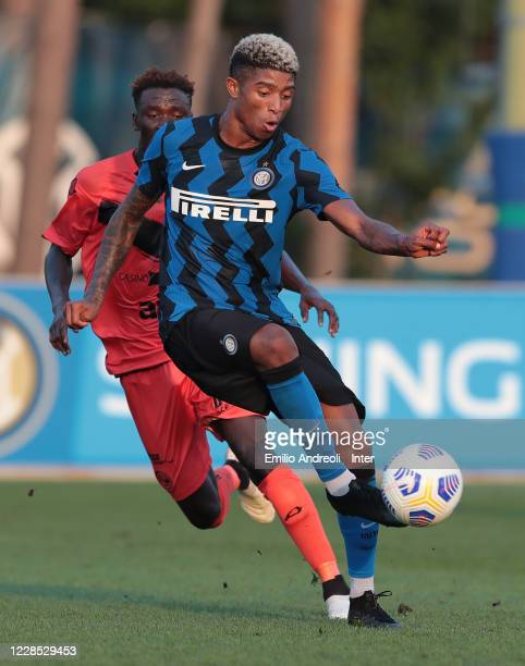 Eddie Salcedo of FC Internazionale in action during the PreSeason Friendly match between FC Internazionale and Lugano at the club's training ground...