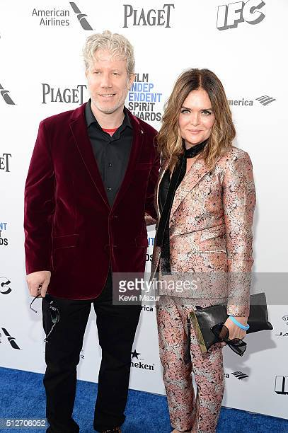 Eddie Schmidt and Rachel Kamerman attend 2016 Film Independent Spirit Awards on February 27 2016 in Santa Monica California