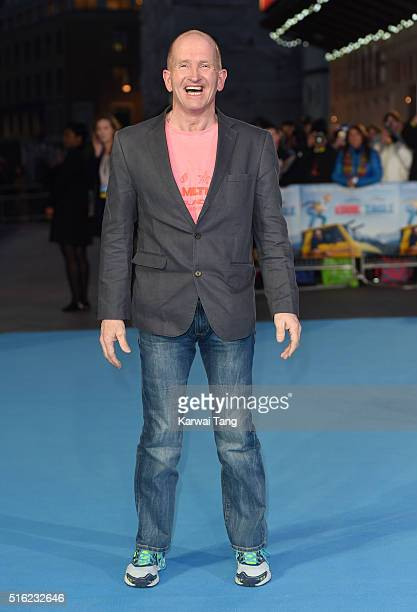 Eddie 'The Eagle' Edwards arrives for the European premiere of 'Eddie The Eagle' at Odeon Leicester Square on March 17 2016 in London England