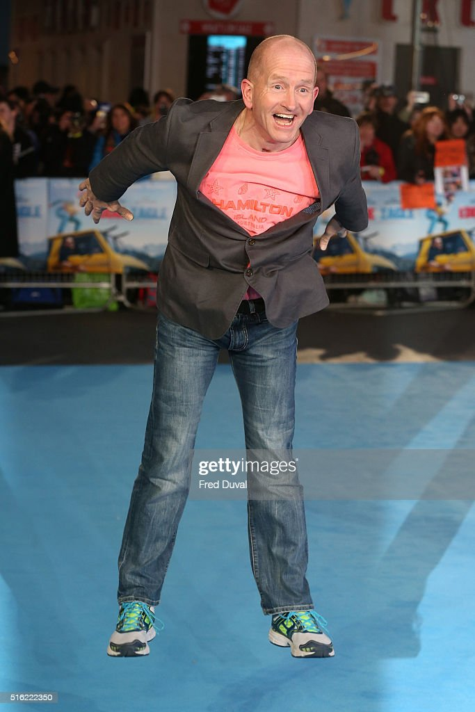 Eddie 'The Eagle' Edwards attends the European Premiere of 'Eddie The Eagle' at Odeon Leicester Square on March 17, 2016 in London, England.