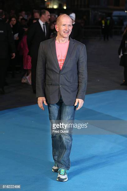 Eddie The Eagle Edwards attends the European Premiere of Eddie The Eagle at Odeon Leicester Square on March 17 2016 in London England