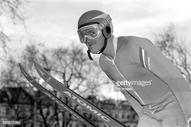 IN LONDON BEFORE FLYING OUT TO TRAIN WITH THE AMERICAN TEAM BEFORE THE WINTER OLYMPICS IN CALGARY EDDIE IS TO BECOME BRITAIN'S FIRST OLYMPIC...