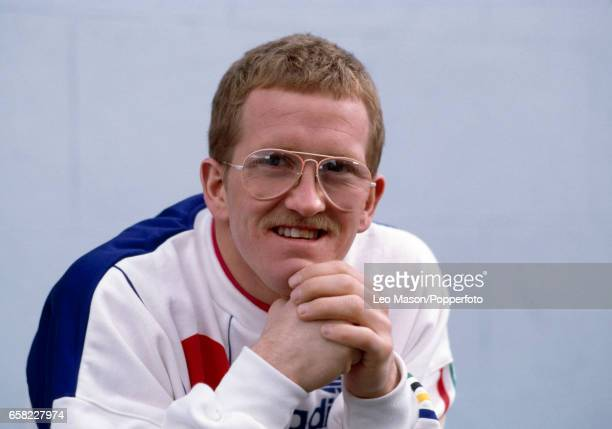 Eddie the Eagle Edwards of Great Britain following his ski jumping efforts during the Winter Olympic Games in Calgary Canada circa February 1988 He...
