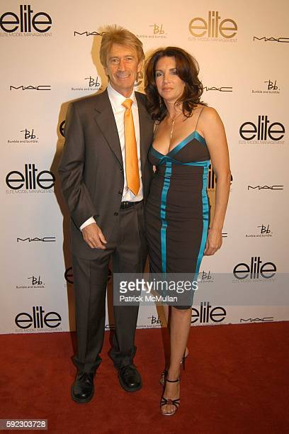 Eddie Trump and Cathy Gould attend Elite Model New Faces at Bumble and Bumble on September 7 2005 in New York City
