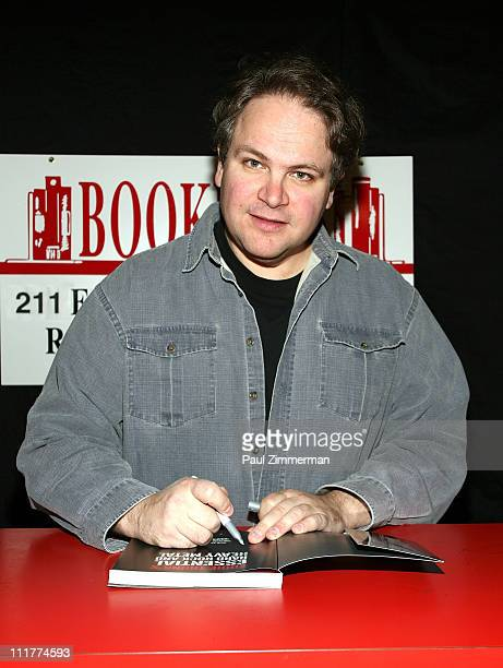 """Eddie Trunk promotes """"Eddie Trunk's Essential Hard Rock & Heavy Metal"""" at Bookends Bookstore on April 6, 2011 in Ridgewood, New Jersey."""