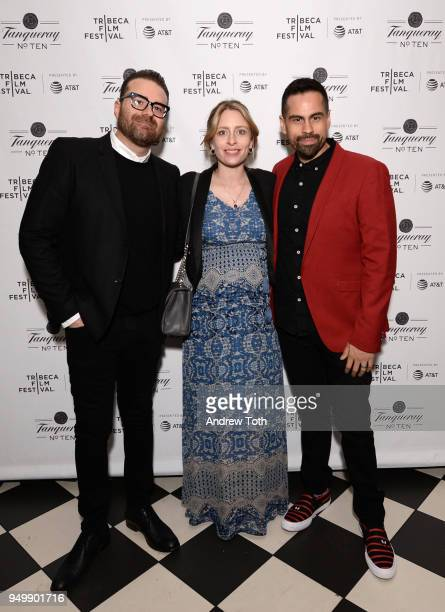 Eddie Vaisman Julia Lebedev and Angel Lopez attend 2018 Tribeca Film Festival afterparty for 'State Like Sleep' hosted By Tanqueray at The Chester on...