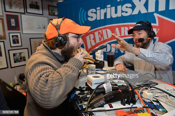 Eddie Vale of American Bridge is interviewed by host Ari RabinHavt and consumes a giant sandwich formerly named 'Healthcare dot gov' by Red Arrow...