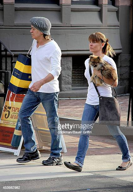Eddie Van Halen and his wife Janie Liszewski are seen on March 12 2012 in Boston Massachusetts
