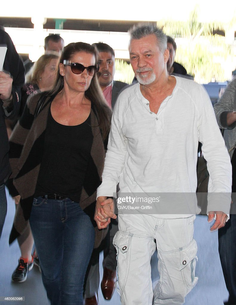 eddie van halen and jane liszewski seen at lax on january 23 2015 in news photo getty images. Black Bedroom Furniture Sets. Home Design Ideas