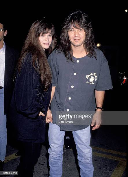 Eddie Van Halen and Valerie Bertinelli at the Hollywood Palladium in Hollywood California
