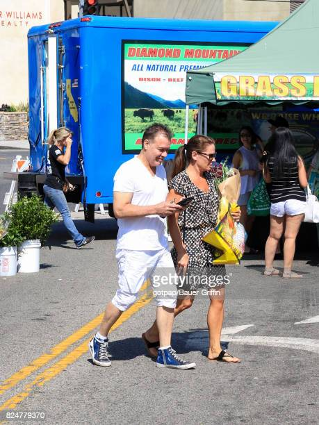Eddie Van Halen and wife Janie Liszewski are seen on July 30 2017 in Los Angeles California
