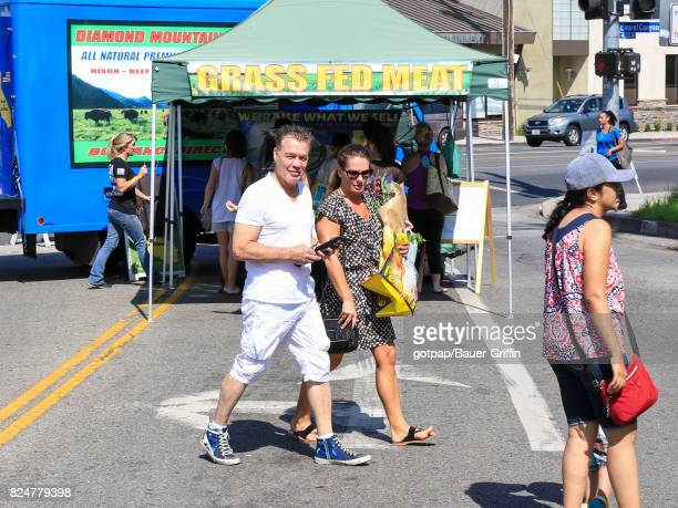 Eddie Van Halen and wife Janie Liszewski are seen on July 30 2017 in Los Angeles California