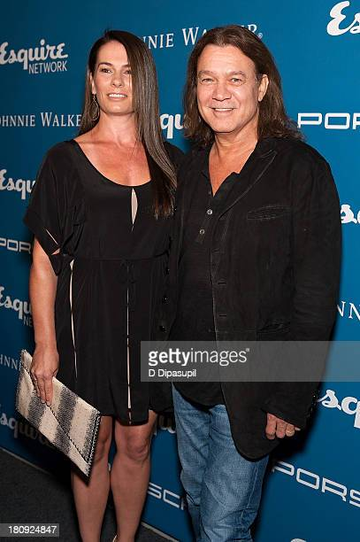 Eddie Van Halen and wife Janie Liszewski attend the Esquire 80th Anniversary And Esquire Network Launch Celebration at Highline Stages on September...