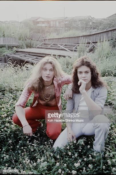 Eddie Van Halen David Lee Roth Van Halen in the scene of a rural area, Kyoto, June 1978.