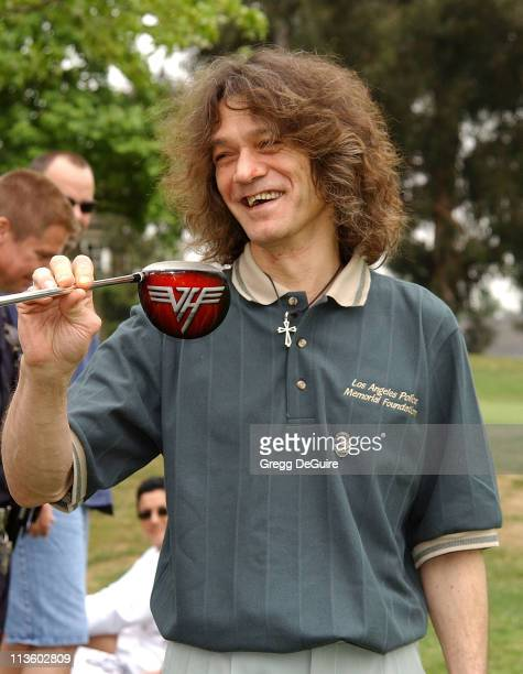 Eddie Van Halen during 31st Annual PoliceCelebrity Golf Tournament at Rancho Park Golf Course in West Los Angeles California United States