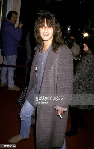 Eddie Van Halen during 'Bonfire of Vanities' Premiere at Bruin Theater in Westwood California United States