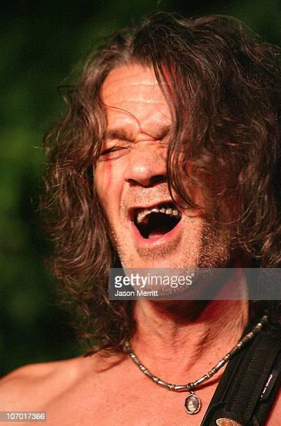 Eddie Van Halen during Eddie Van Halen Performs at the House of Petals Summer Jam Series July 19 2006 at House of Petals in West Hollywood California...