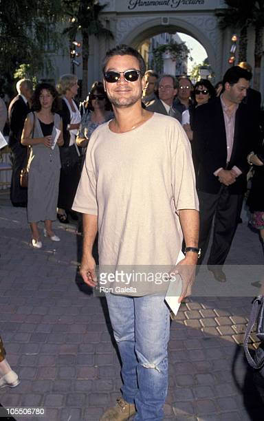 Eddie Van Halen during Forrest Gump Los Angeles Premiere at Paramount Studios in Hollywood California United States