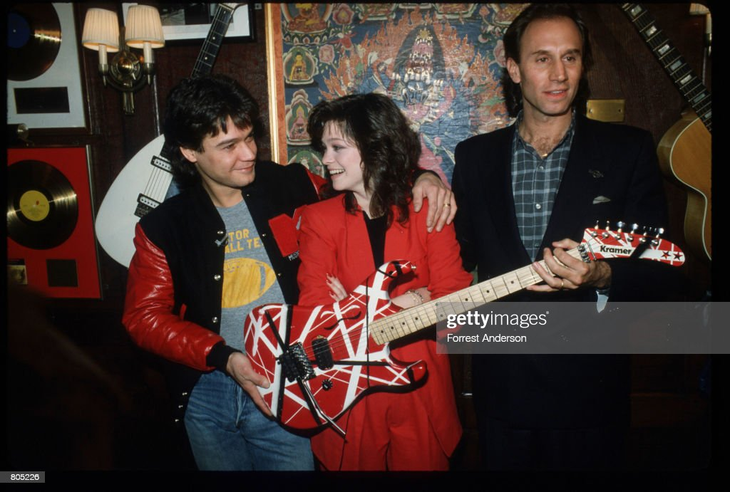 Eddie Van Halen Of The Rock Group Stands With His Wife Valerie Bertinelli February