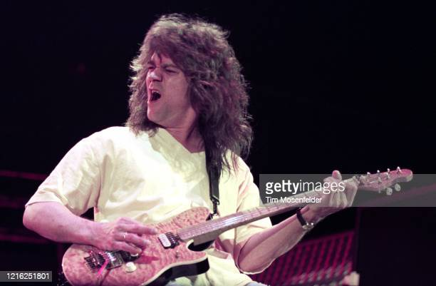 Eddie Van Halen of Van Halen performs at the Cow Palace on May 8, 1992 in South San Francisco, California.