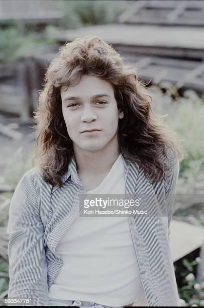 Eddie Van Halen Van Halen in the scene of a rural area Kyoto June 1978