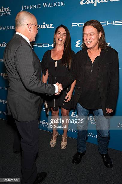 Eddie Van Halen wife Janie Liszewski and Esquire EditorinChief David Granger attend the Esquire 80th Anniversary And Esquire Network Launch...