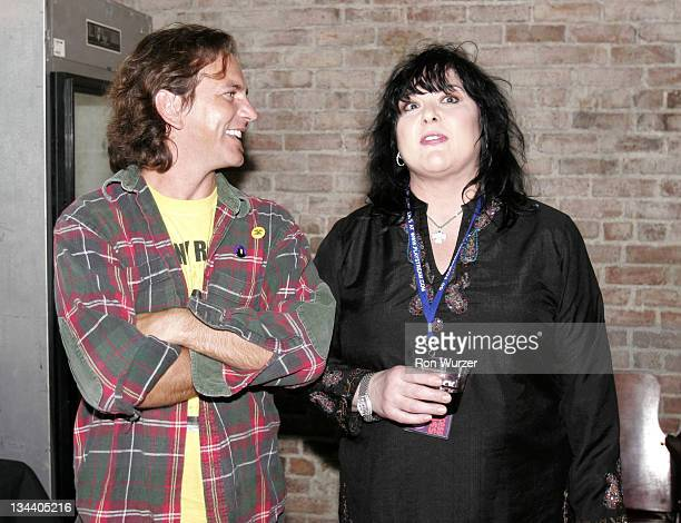 Eddie Vedder and Ann Wilson during 'Rock School' After Party in Seattle May 25 2005 at Seattle Neumo's in Seattle Washington United States
