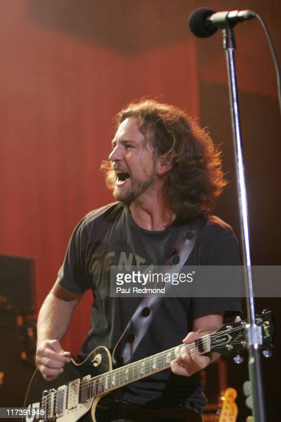 Eddie Vedder during 2007 Hullabaloo Benefit for the Silverlake Conservatory of Music with Red Hot Chili Peppers and Eddie Vedder at Henry Fonda...
