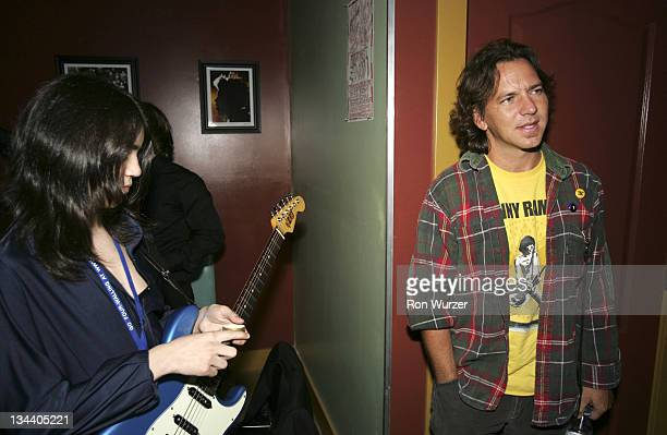 Eddie Vedder during 'Rock School' After Party in Seattle May 25 2005 at Seattle Neumo's in Seattle Washington United States