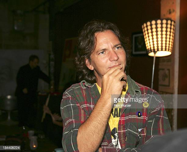 Eddie Vedder during Rock School After Party in Seattle May 25 2005 at Seattle Neumo's in Seattle Washington United States