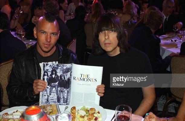 Eddie Vedder of Pearl Jam and Johnny Ramone of The Ramones