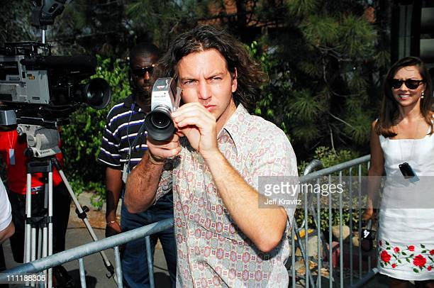 Eddie Vedder of Pearl Jam during 1993 MTV Video Music Awards at Universal Amphitheater in Los Angeles California United States