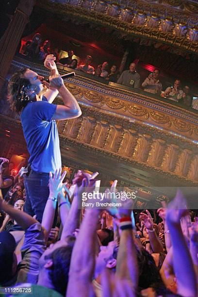 Eddie Vedder of Pearl Jam during A Benefit for Hurricane Katrina Survivors with Pearl Jam and Robert Plant at House of Blues in Chicago Illinois...