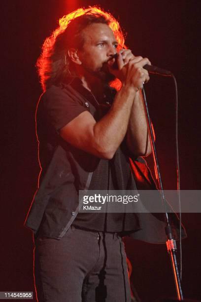 Eddie Vedder of Pearl Jam during U2 in Concert in Honolulu December 9 2006 at Aloha Stadium in Honolulu Hawaii United States