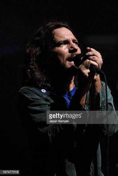 Eddie Vedder of Pearl Jam during VH1 Storytellers Featuring Pearl Jam at Avalon in New York City New York United States