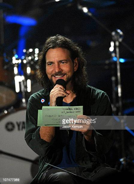 Eddie Vedder of Pearl Jam during 'VH1 Storytellers' Featuring Pearl Jam at Avalon in New York City New York United States
