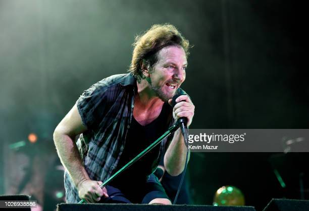 Eddie Vedder of Pearl Jam performs at Fenway Park on September 4 2018 in Boston Massachusetts