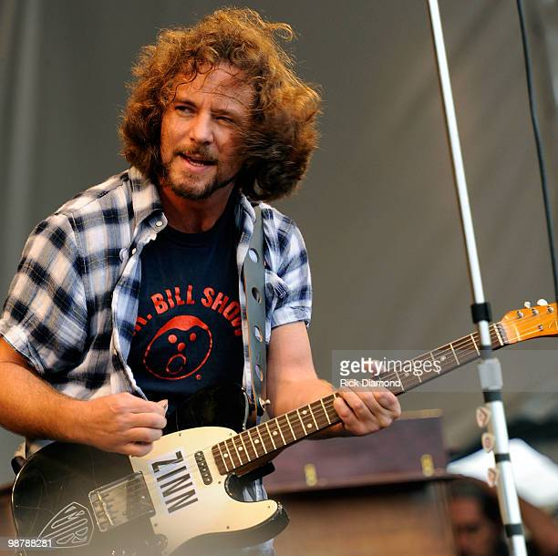 Eddie Vedder Performs at the 2010 New Orleans Jazz Heritage Festival Day 6 Presented By Shell at the Fair Grounds Race Course on May 1 2010 in New...